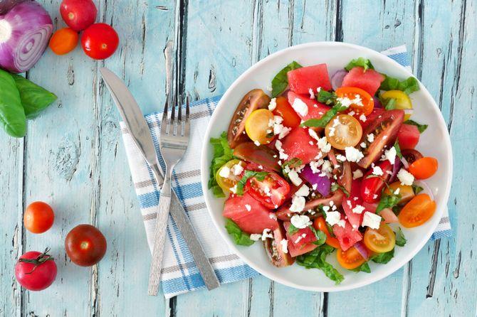 Des tomates vraiment mûres font une superbe salade à tous les coups !