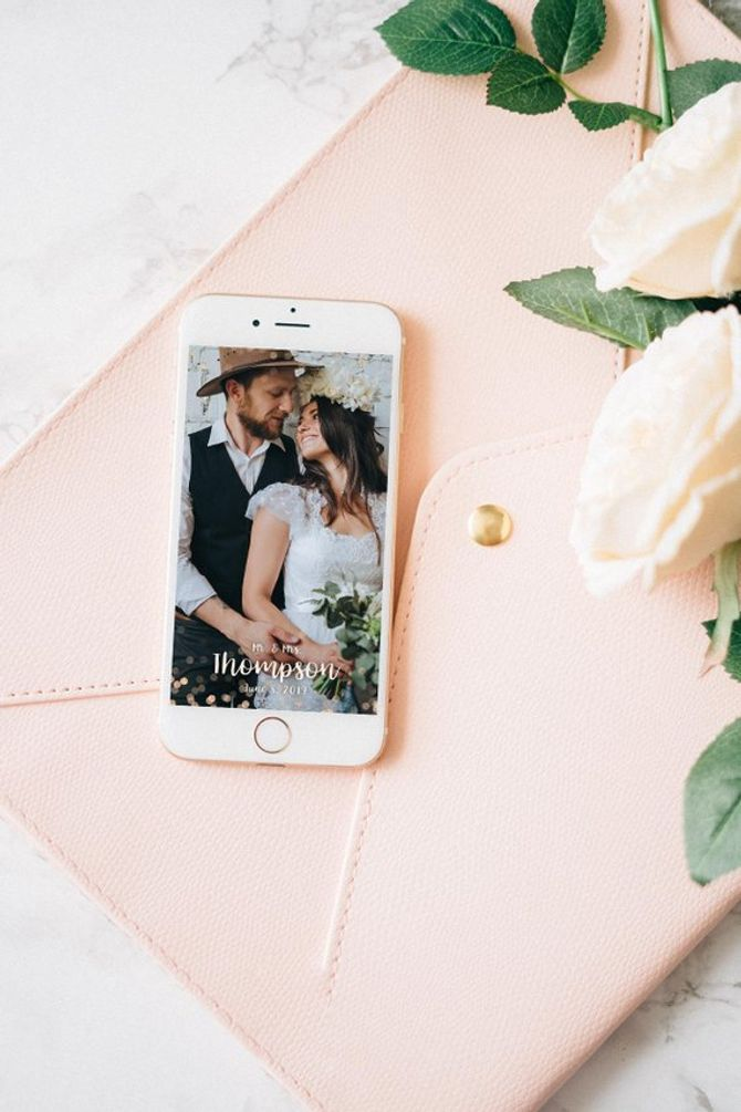 Pensez au filtre personnalisé pour votre mariage