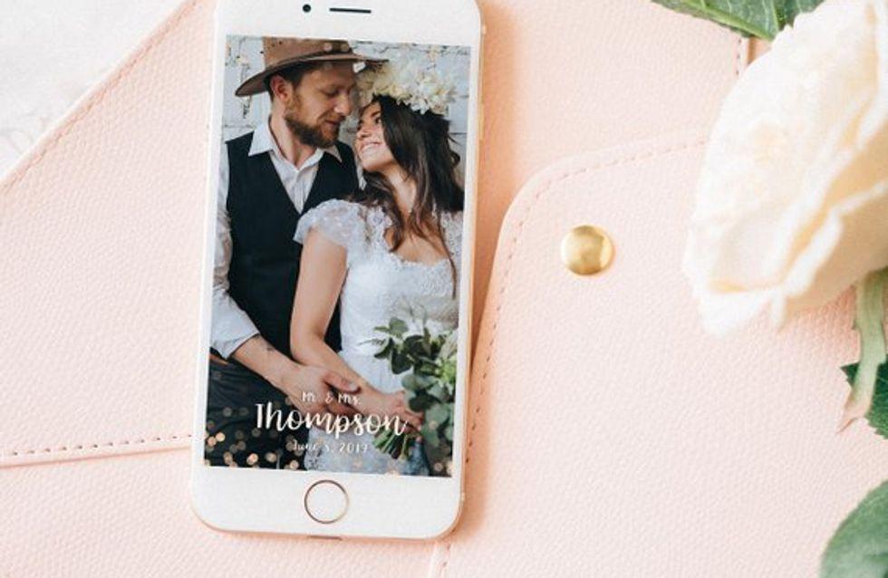 Je veux un filtre Snapchat sur mesure pour mon mariage