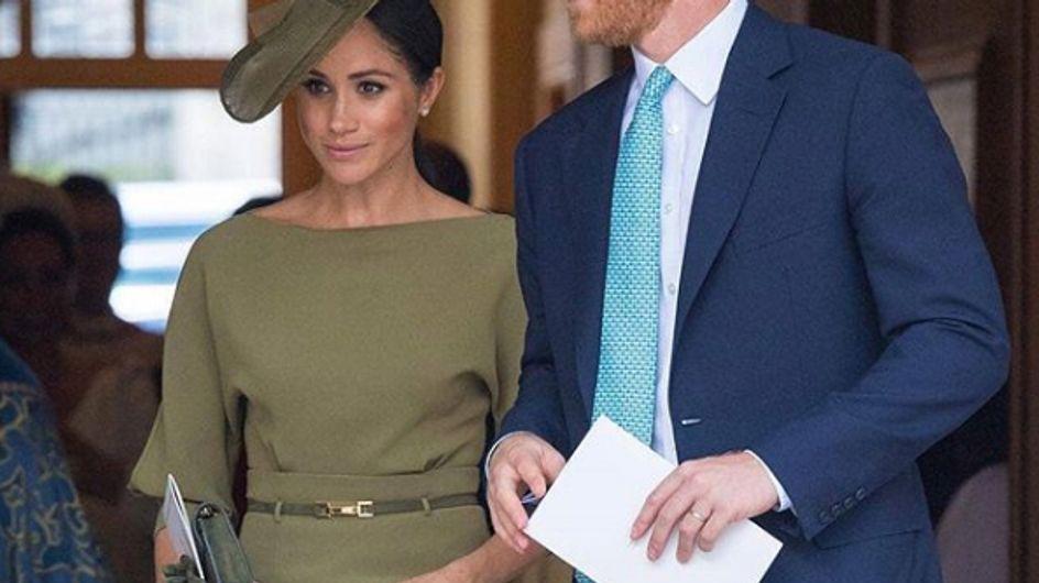 Meghan Markle, en total look kaki pour le baptême du prince Louis