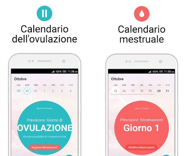 Calendario Dell Ovulazione.App Per Ciclo Mestruale E Calcolo Ovulazione