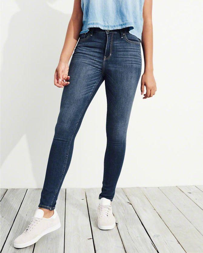 Jean super skinny taille haute , Hollister - 49€
