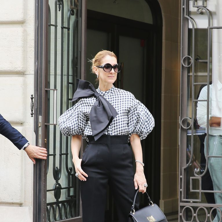Celine Dion Un Look Ose En Cuissardes En Dentelle Et Peignoir