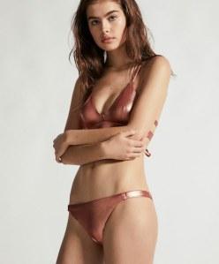 Bikini a triangolo metallizzato