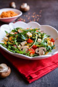 Une salade de lentilles avec du tofu et d'autres idées pour vos menus à index gluycémique bas.