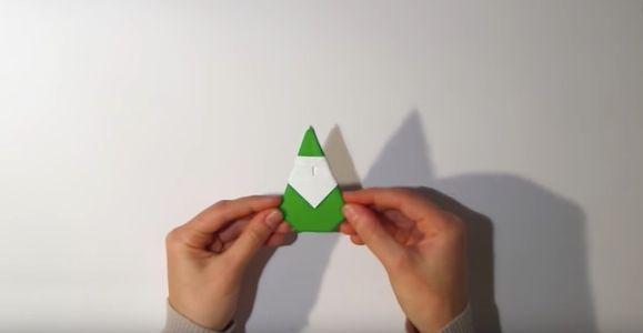 L'origami Père Noël terminé