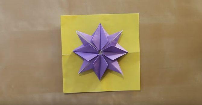 Tuto origami étoile de Noël
