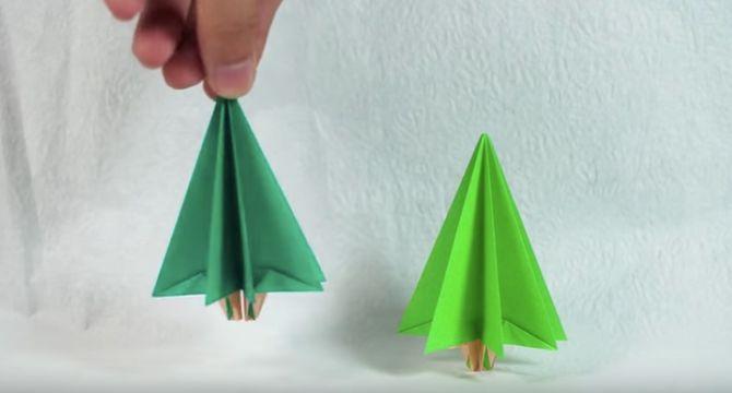 L'origami sapin terminé