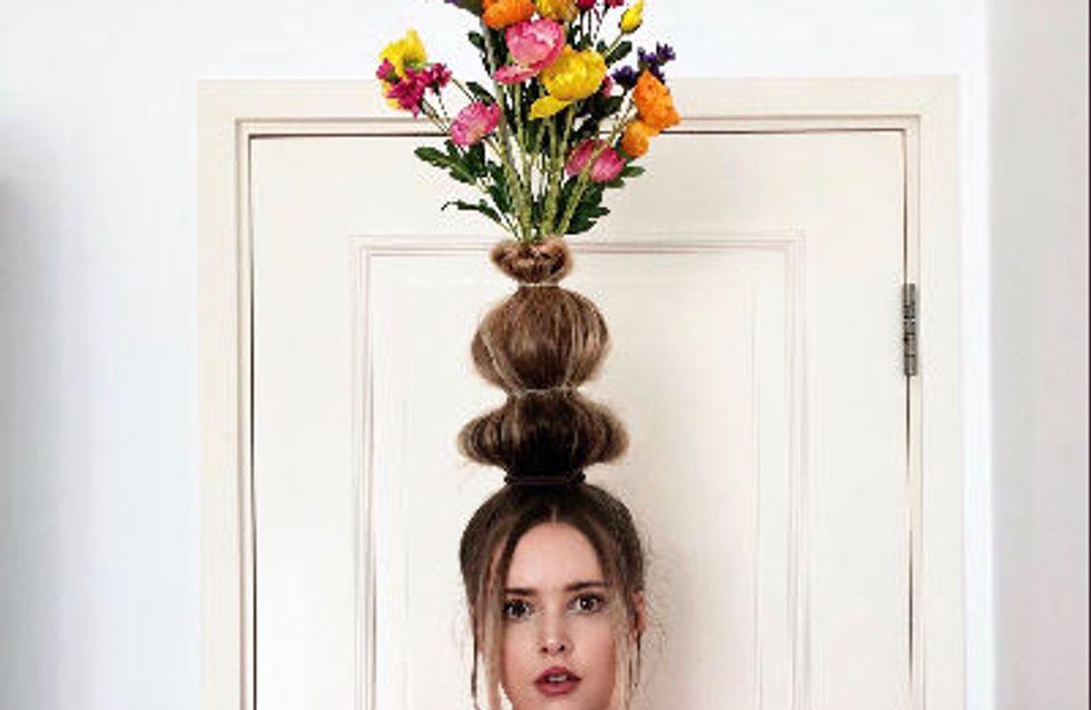 Transformer ses cheveux en vase est la nouvelle tendance, et c'est impressionnant ! (photos)