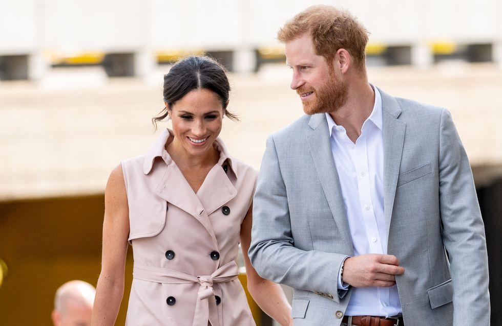 L'adorable réaction du prince Harry lorsque Meghan Markle est décoiffée par le vent