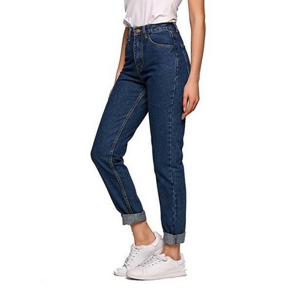 oodji Ultra Donna Jeans Mom Fit a Vita Alta