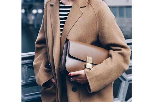 Abrigo lana beige