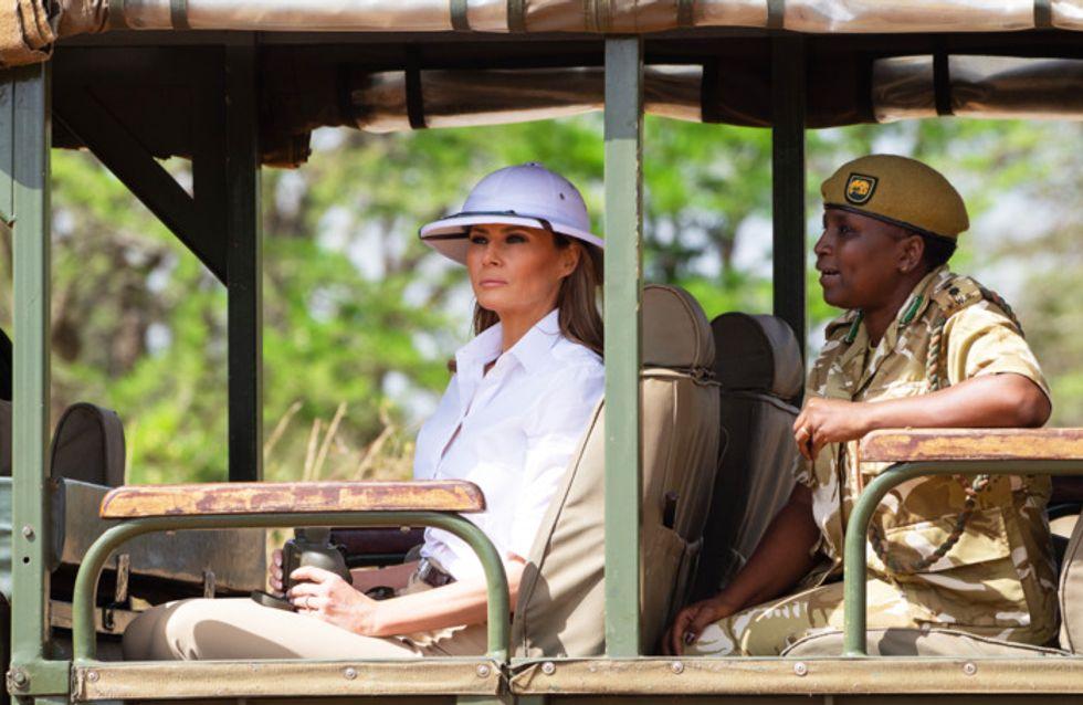 En visite au Kenya, Melania Trump arbore un look insultant pour les pays d'Afrique
