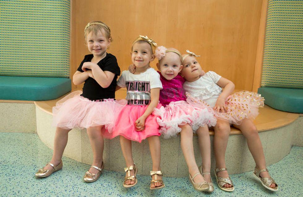 Ces 4 petites filles se sont battues contre le cancer et célèbrent leur guérison ensemble (photos)