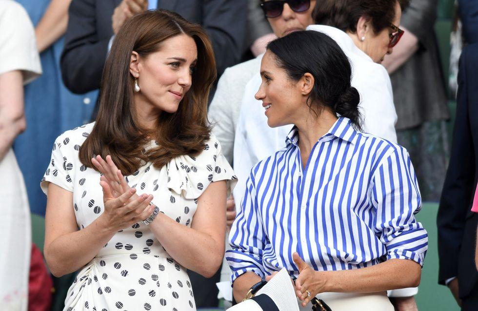 Kate et Meghan redoublent d'élégance au mariage de la princesse Eugénie
