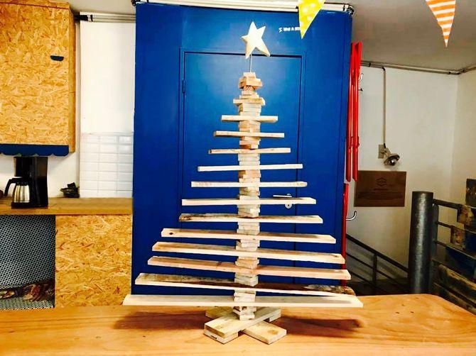 Sapin de Noel réalisé avec des palettes en bois