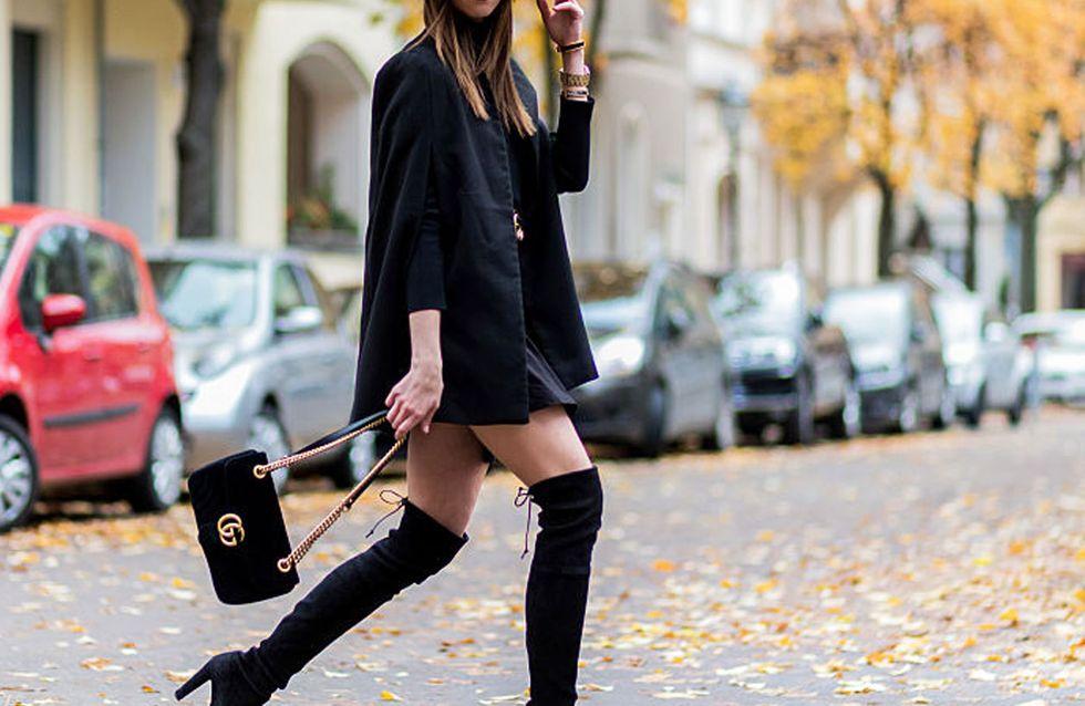 Outfit Ideen mit Strickjacken oversize braun stiefel braun