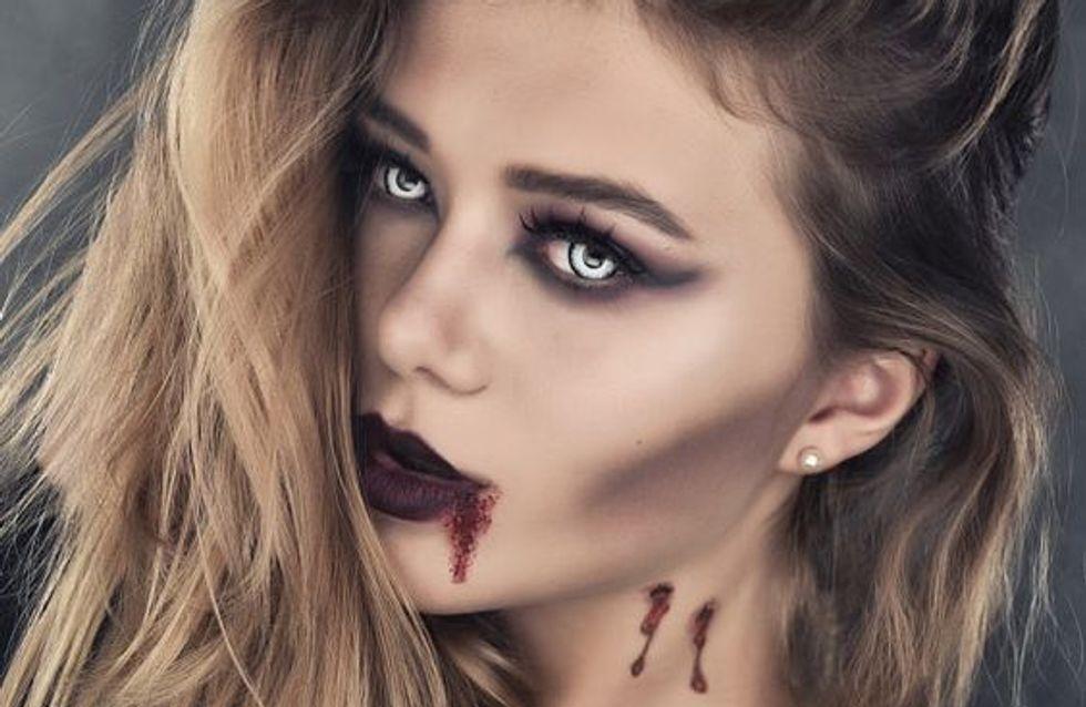 Cómo maquillar tus ojos y labios para Halloween