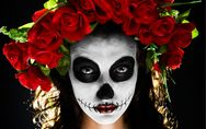 Make up tutorial: scopri come creare un trucco di teschio messicano divertente p