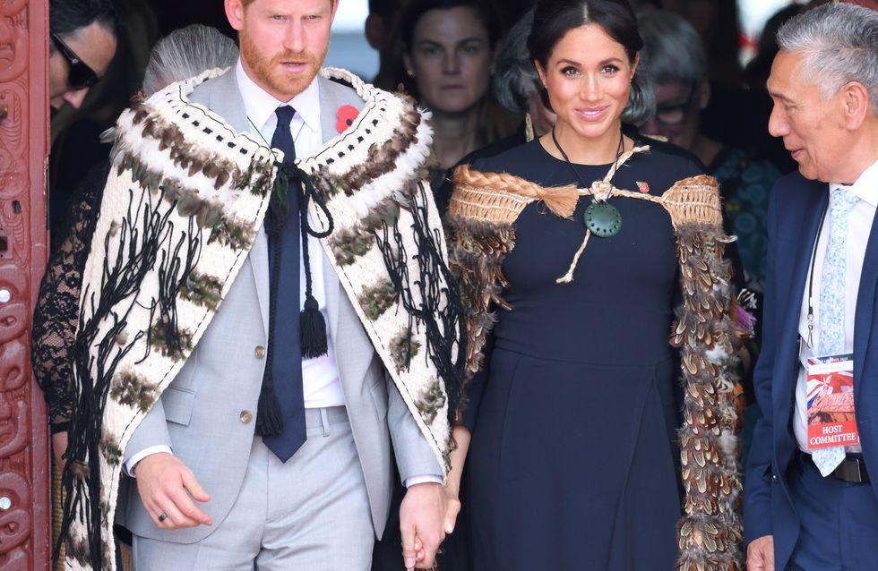 Meghan et Harry, magnifiques en tenues traditionnelles maories