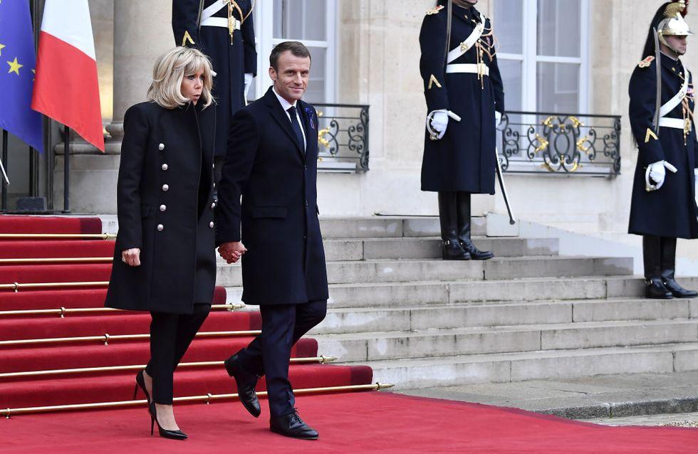 Brigitte Macron sobre et élégante pour les commémorations du 11 novembre