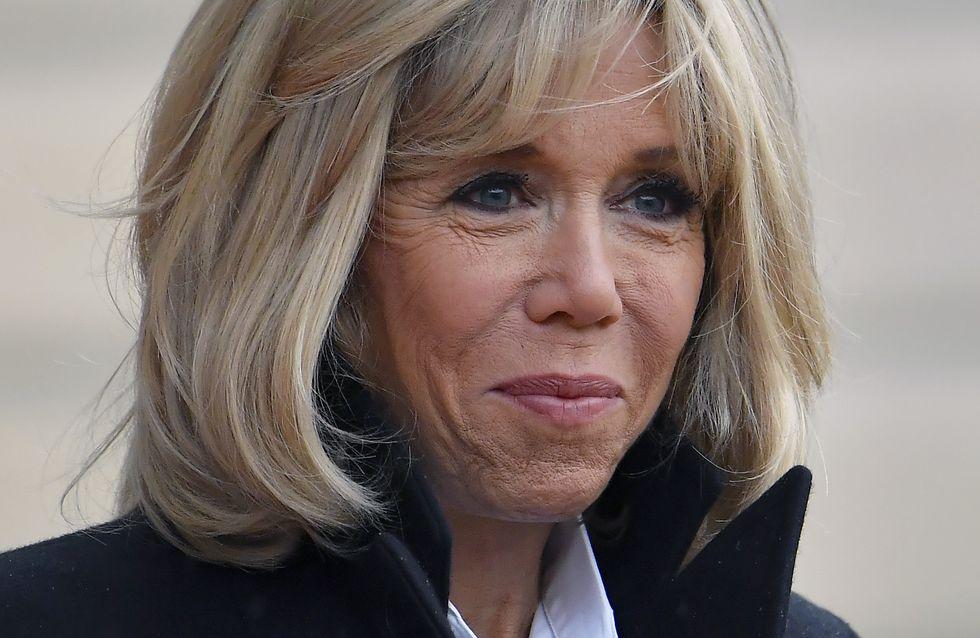 En Belgique, Brigitte Macron fait sensation dans une robe noire à sequins argentés