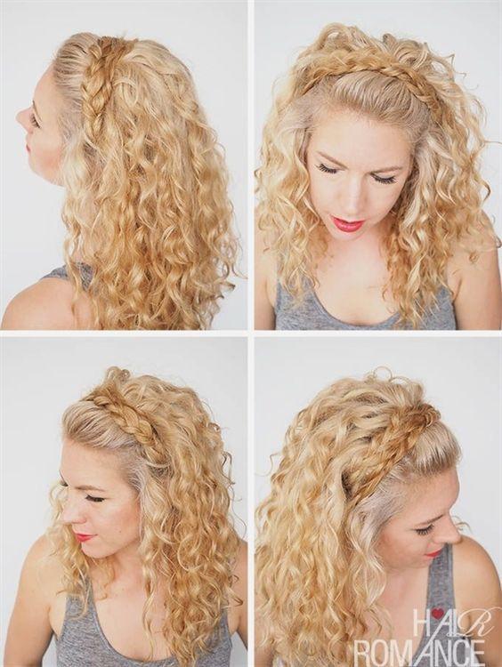 Peinados con pelo rizado y largo