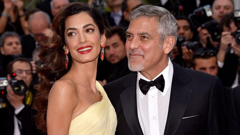 Amal Clooney dévoile pour la première fois le visage de ses jumeaux (Photos)