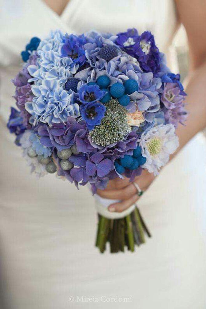 Bouquet da sposa blu
