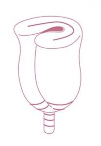 Copa menstrual forma C