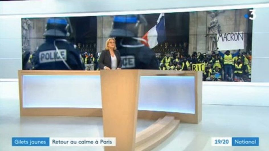 France 3 accusée de censurer une pancarte anti-Macron des Gilets jaunes