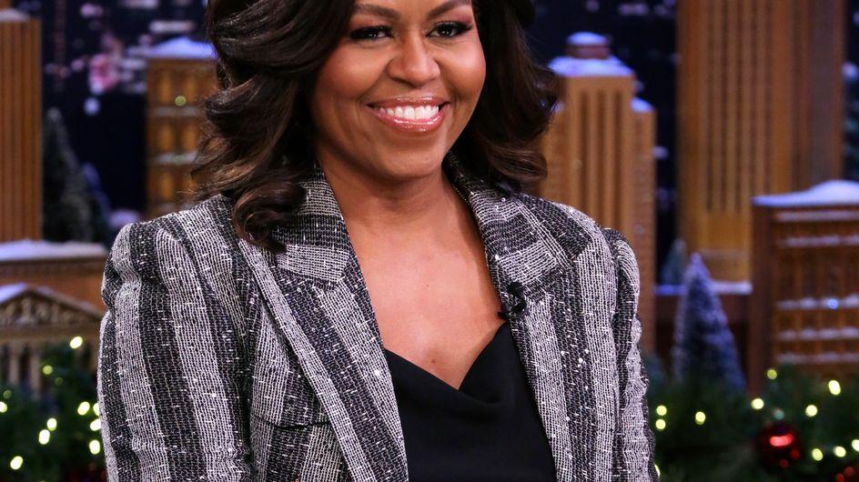 Michelle Obama fait sensation dans un magnifique smoking pailleté