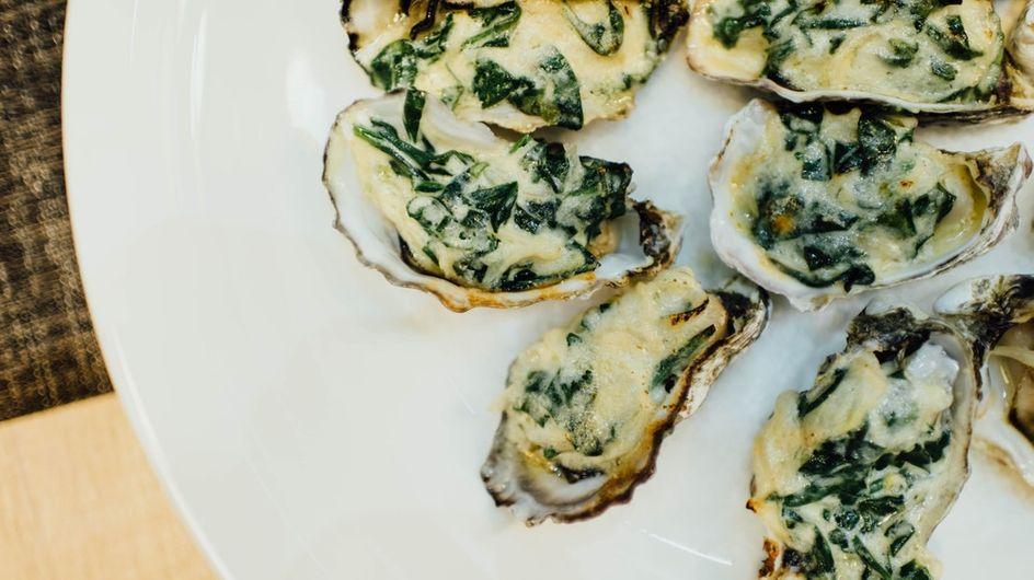 Les huîtres au four