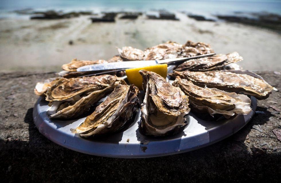 Les huîtres crues