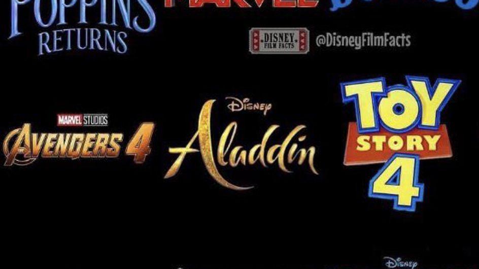 Disney dévoile la liste de ses films prévus pour 2019 et on a trop hâte !