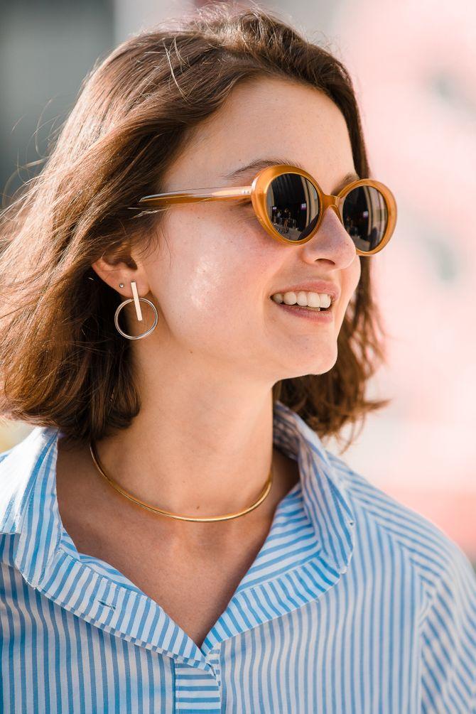 Les lunettes de soleil ovales