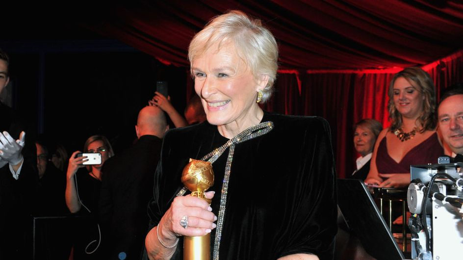 Golden Globes : en larmes, Glenn Close rend hommage aux femmes et reçoit une standing ovation