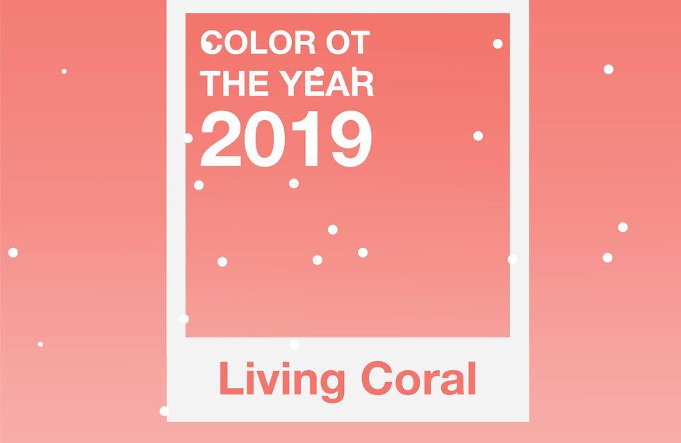 Le Living Coral, la couleur de l'année 2019