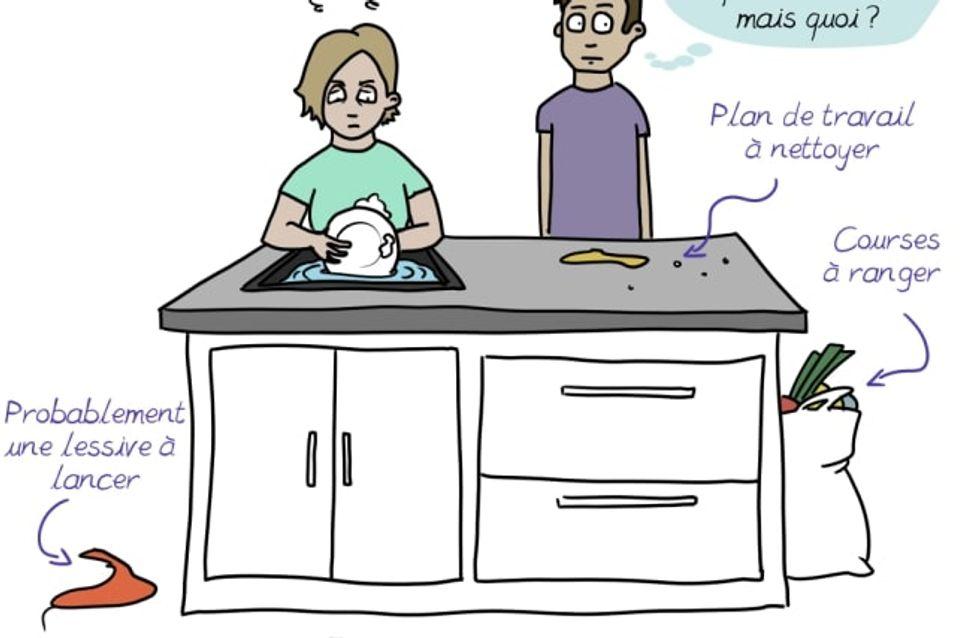 Charge mentale : l'illustratrice Emma dénonce le manque d'initiatives des hommes