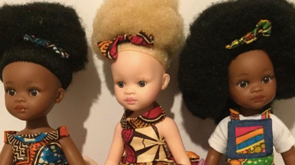 Pour plus de diversité, cette marque propose des poupées noires, albinos ou atteintes de Vitiligo