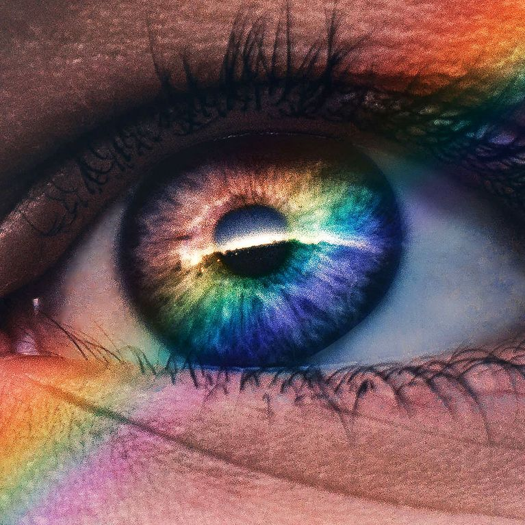 Bernsteinfarbene Augen