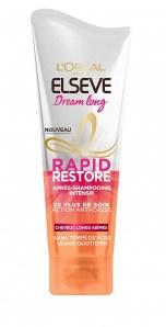 Après-shampooing Rapid Restore, Elsève – 4,30 euros
