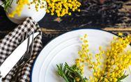 Menu per la festa delle donne: aperitivo, primo, secondo, contorno e dolce al pr