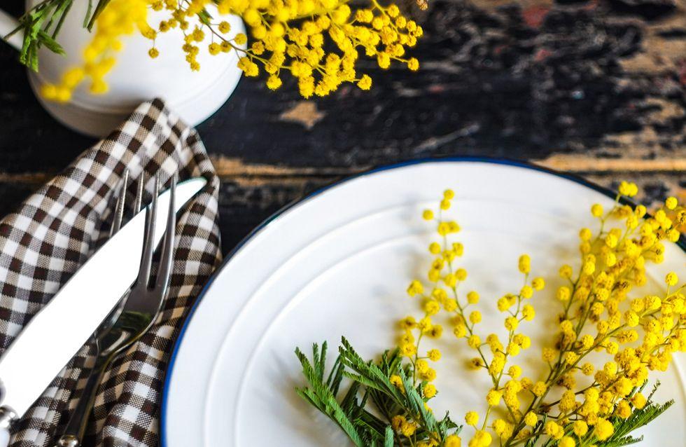 Menu per la festa delle donne: aperitivo, primo, secondo, contorno e dolce al profumo di mimosa!