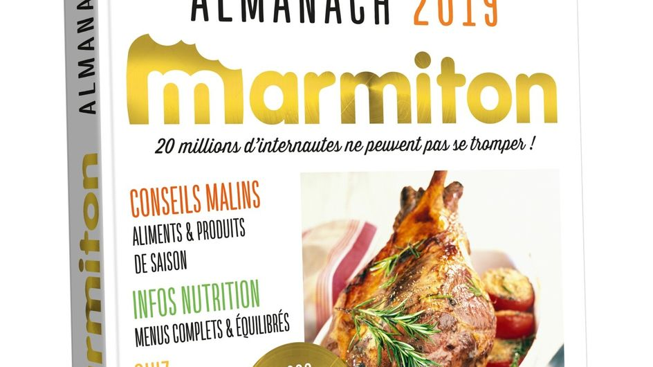 Nouveauté : L'almanach 2019 des recettes Marmiton