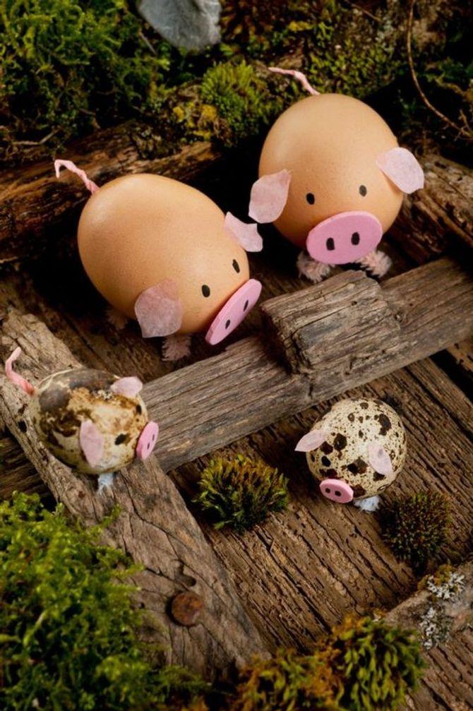 oeufs de Pâques cochons