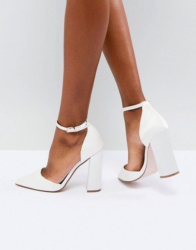 Scarpe da sposa con tacco largo