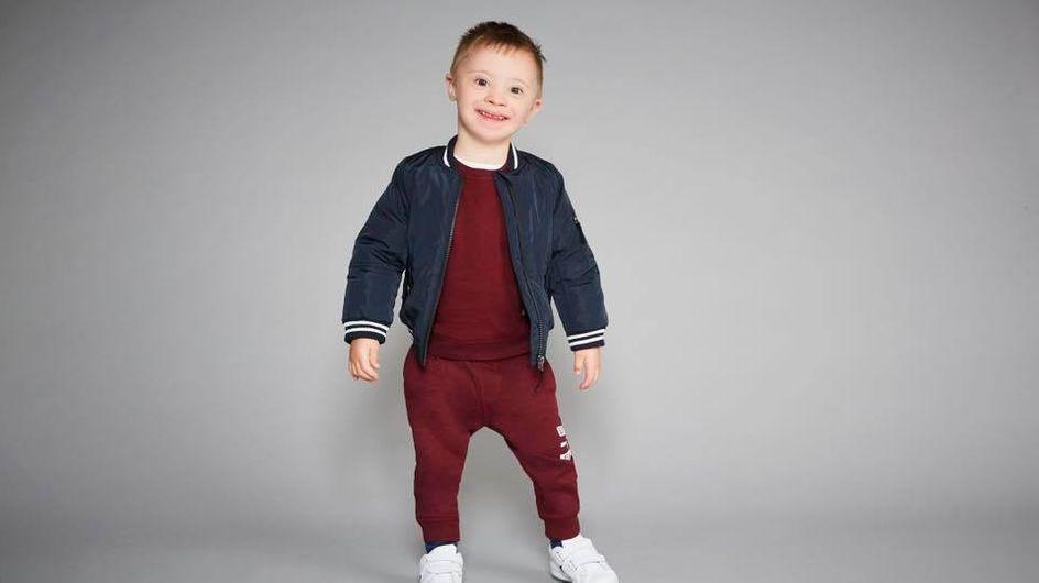 Ce petit garçon porteur de trisomie 21 devient mannequin