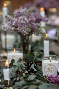 Composizioni floreali con candele