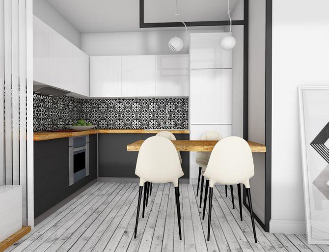 Du papier peint dans la cuisine